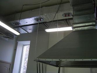 Система вентиляции в ресторане