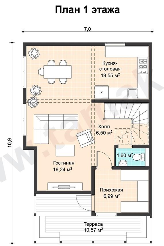 проект дома 7 на 11 план 1 этаж