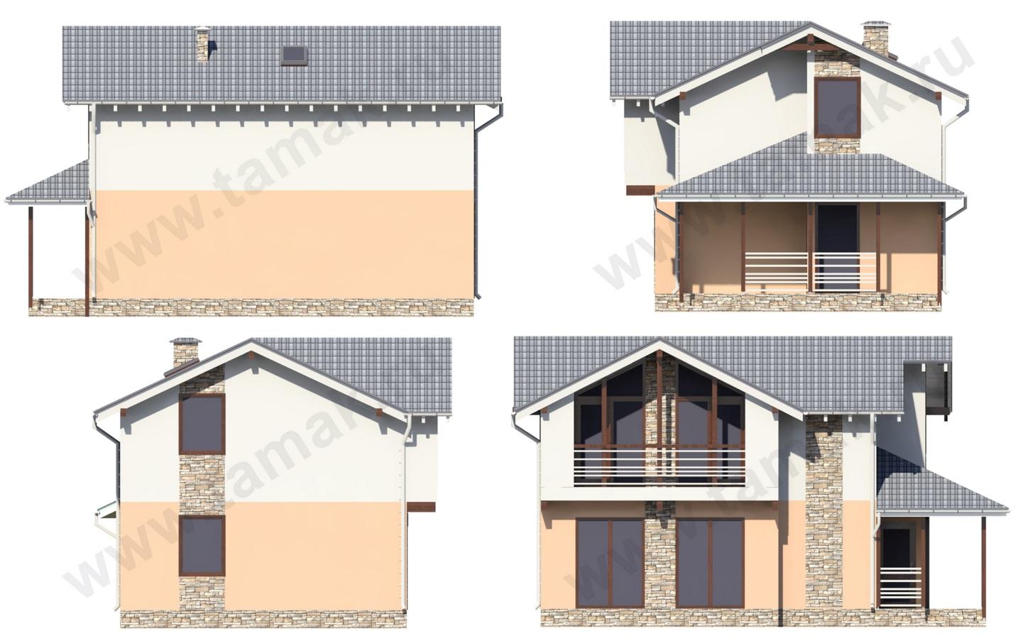 проект дома 7 на 11 фасады