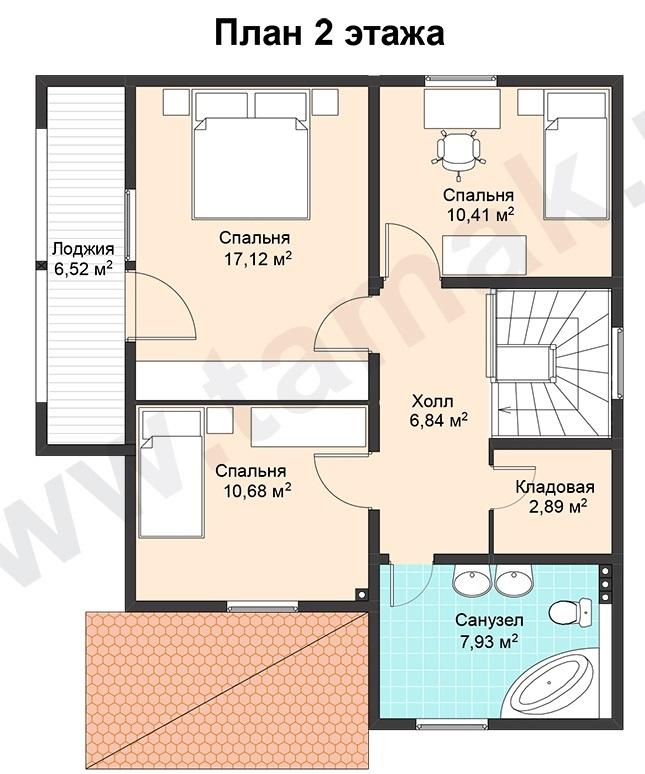 проект дома 10 на 8 план 2 этаж