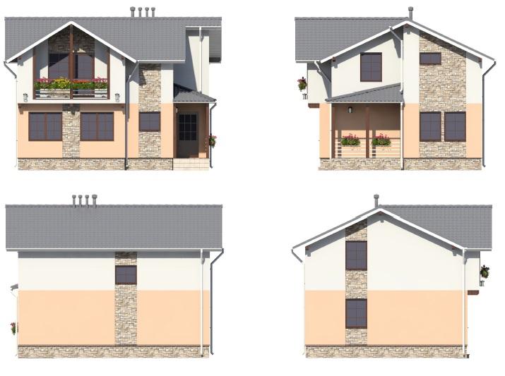 проект дома 10 на 8 фасады