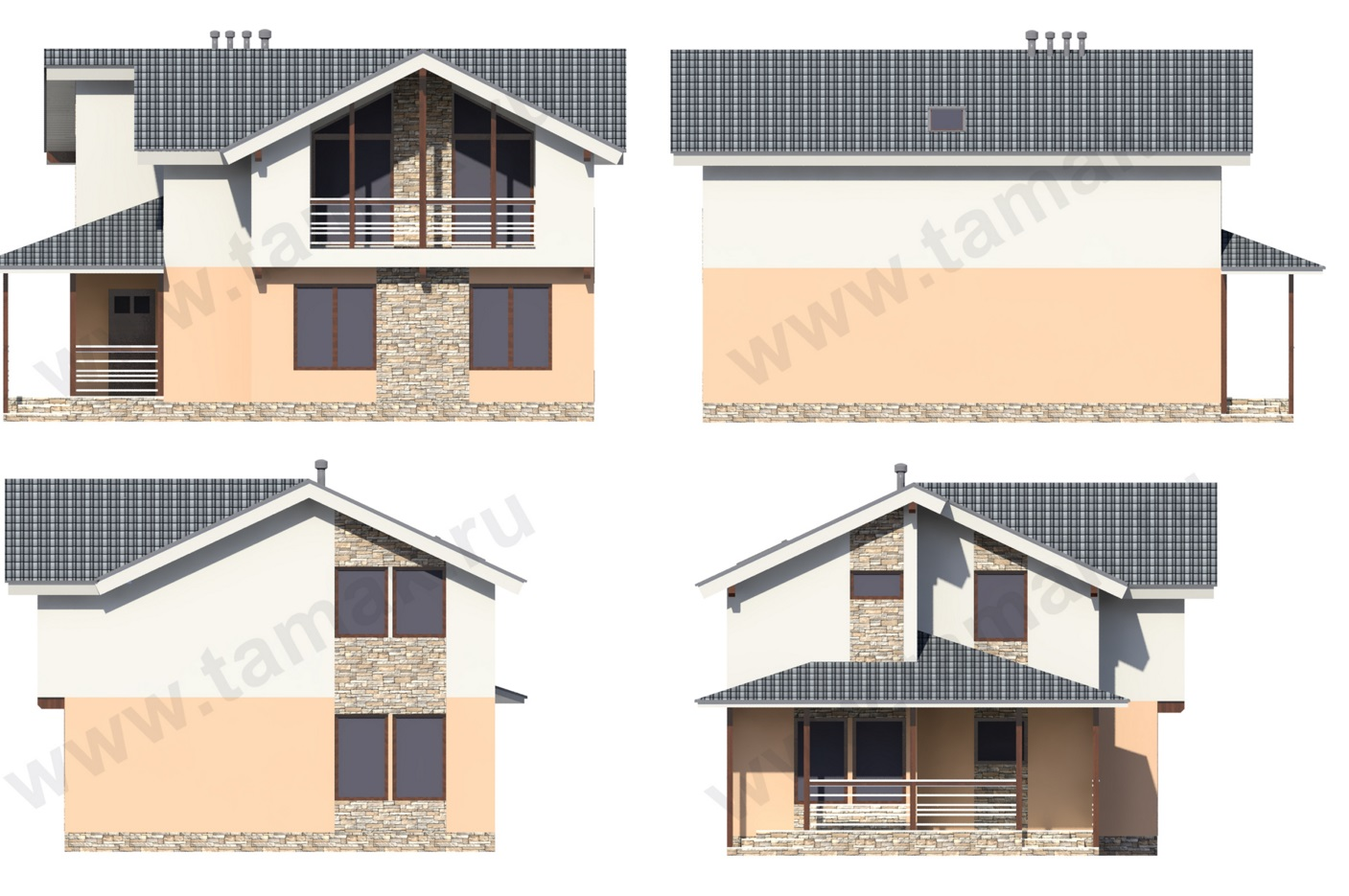 Проект дома 9 на 12 фасады