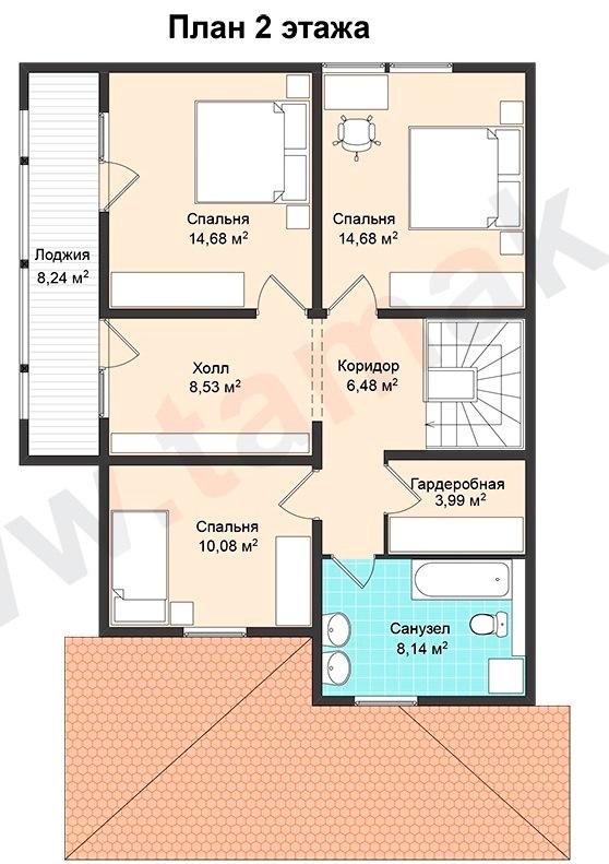Проект дома 8 на 13 план 2 этаж