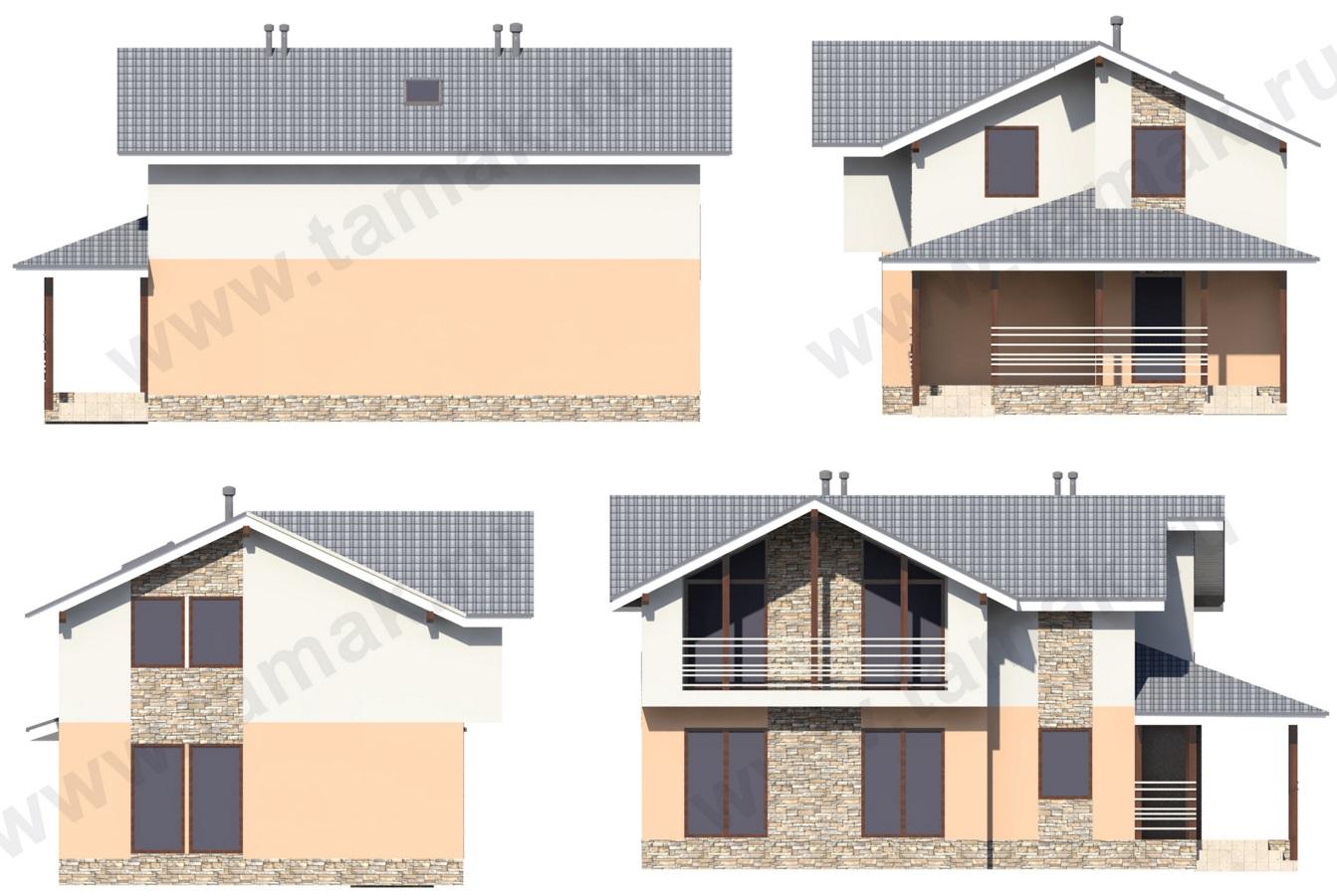 Проект дома 8 на 13 фасады