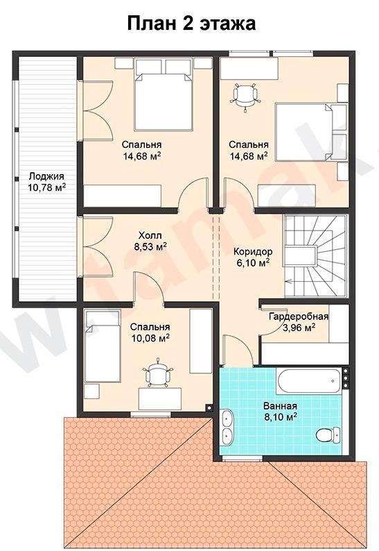 Проект дома 9 на 13 план 2 этаж