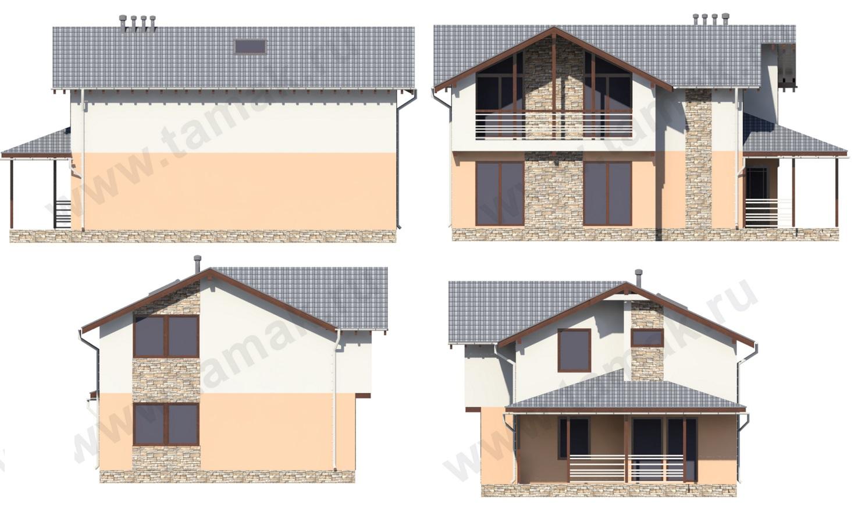 Проект дома 9 на 13 фасады