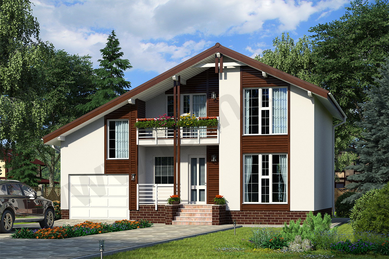 Проект дома Зальцбург ПД-322-1-186